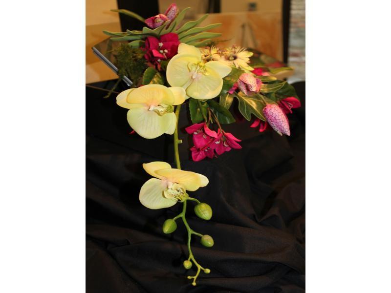 Rosas artificiales montaje