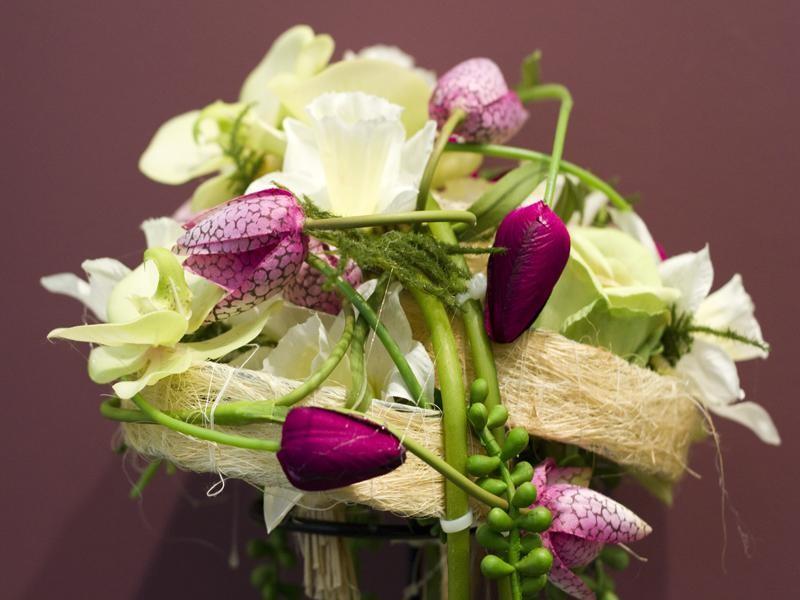 Flores artificiales en San Valentín